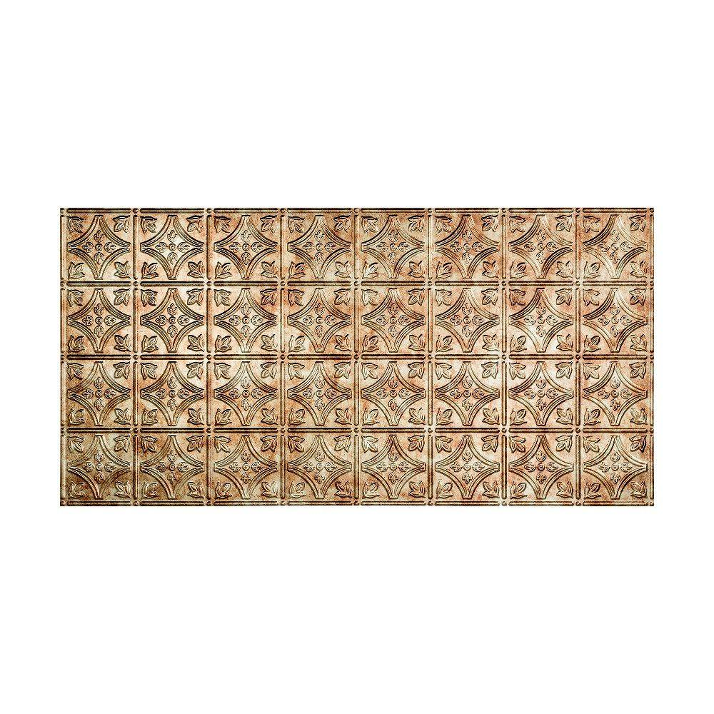 Fasade Traditional 1 - 2 ft. x 4 ft. Glue-up Ceiling Tile in Bermuda Bronze