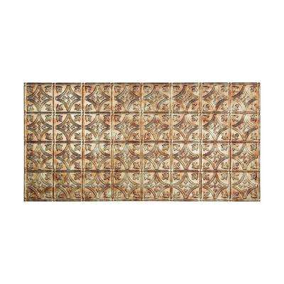 Traditional Style # 1 - 2 ft. x 4 ft. Vinyl Glue-Up Ceiling Tile in Bermuda Bronze