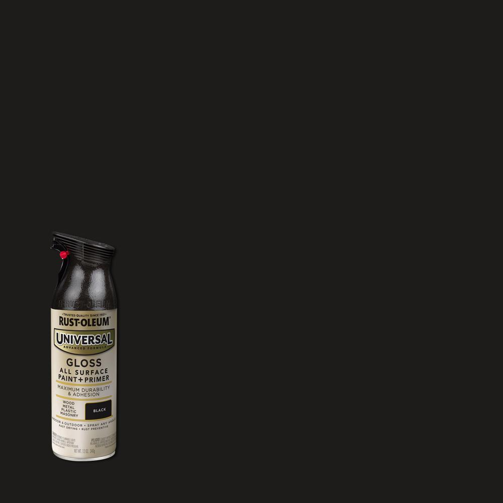 Rust-Oleum Universal 11 oz. All Surface Gloss Black Spray Paint and Primer in One