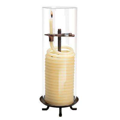 80 Hour Coil Citronella Candle with Glass Globe