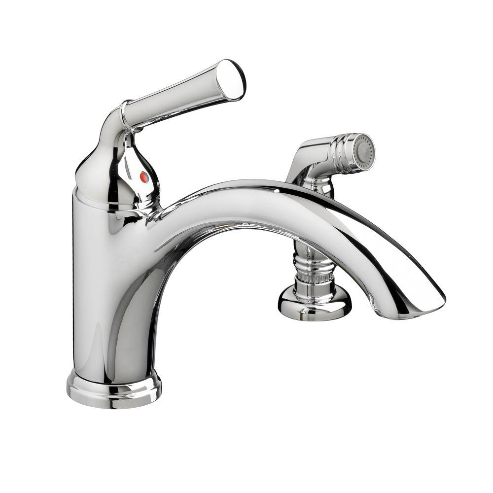 Portsmouth Single-Handle Standard Kitchen Faucet with Side Sprayer in Polished