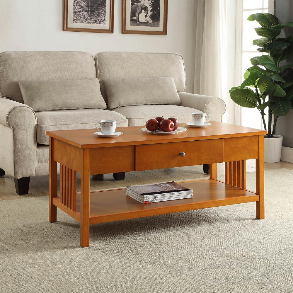 USL Mission Oak Coffee Table-SK19211A-MO - The Home Depot