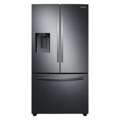 27 cu. ft. French Door Refrigerator in Fingerprint Resistant Black Stainless Steel