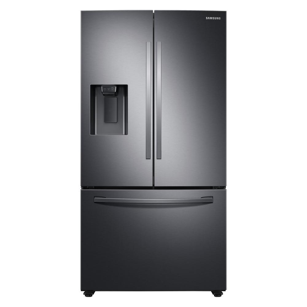 27 cu. ft. French Door Refrigerator in Fingerprint Resistant Black Stainless Steel