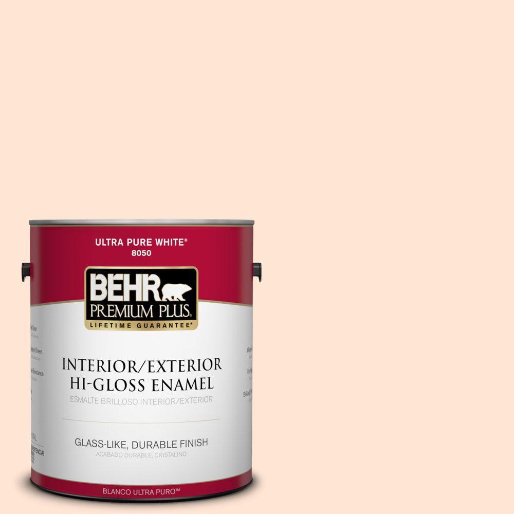 BEHR Premium Plus 1-gal. #P210-1 Sour Candy Hi-Gloss Enamel Interior/Exterior Paint