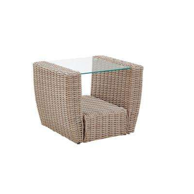 St. Augustine Wicker Outdoor Side Table