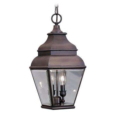 Providence 2-Light Bronze Outdoor Hanging Pendant