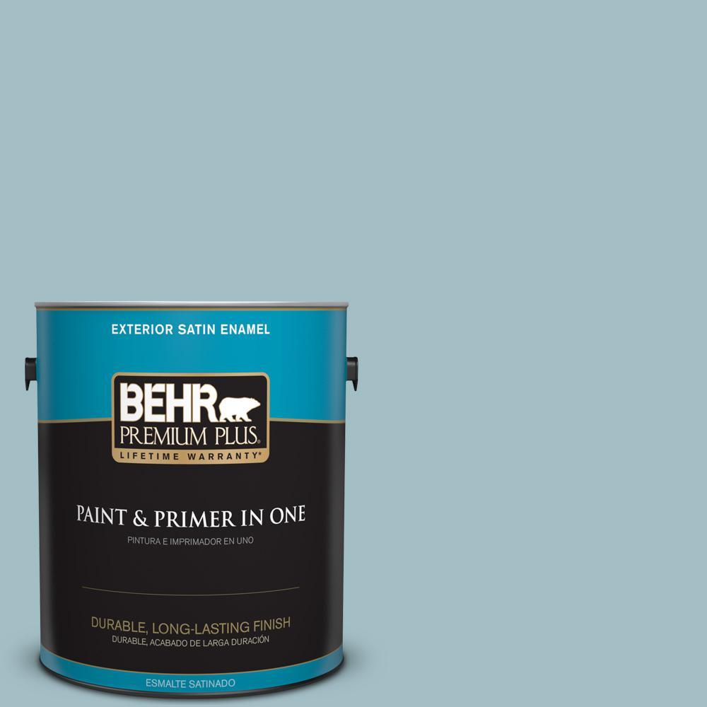 1 gal. #PPU13-11 Clear Vista Satin Enamel Exterior Paint