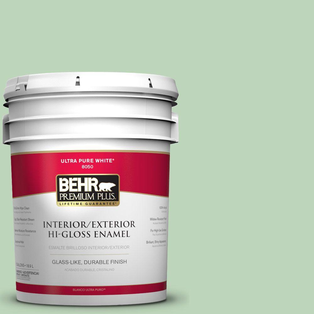 BEHR Premium Plus 5-gal. #M400-3 Bok Choy Hi-Gloss Enamel Interior/Exterior Paint