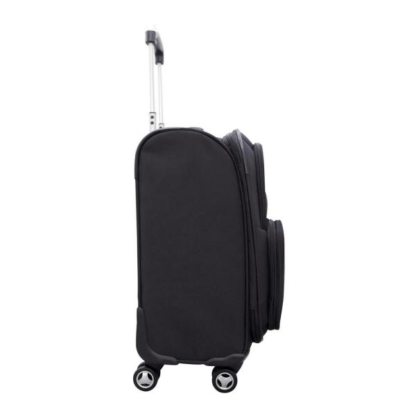 Denco Ncaa Florida 21 In Black Carry On Spinner Softside Suitcase Clfll202 The Home Depot