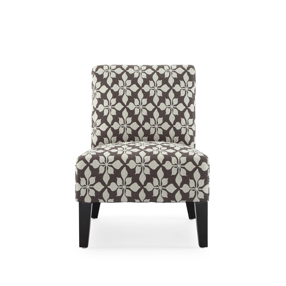 Monaco Mocha Spades Accent Chair by