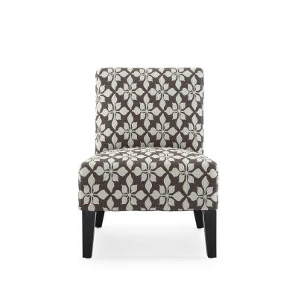 Monaco Mocha Spades Accent Chair