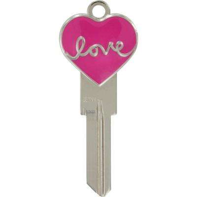#66 Blank Heart Shape Frame House Key