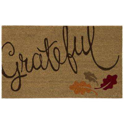 Grateful Leaves 18 in. x 30 in. Door Mat