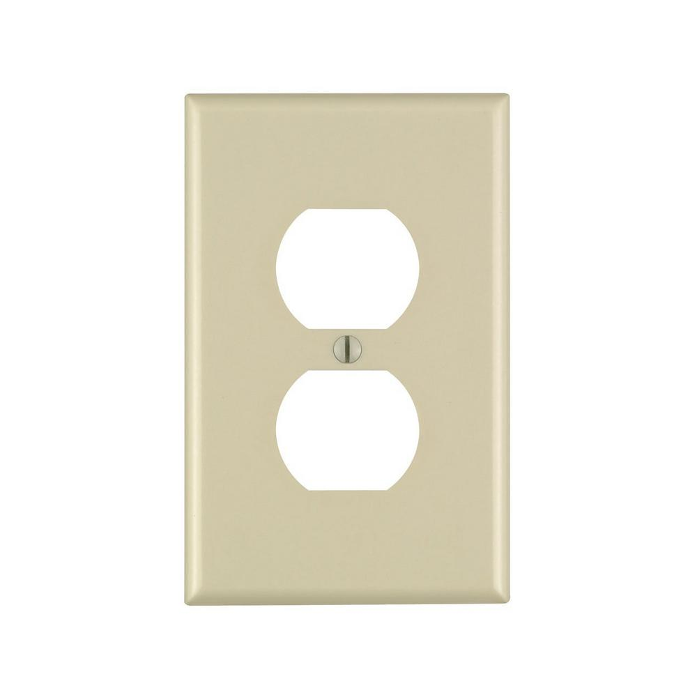 Ivory 1-Gang Duplex Outlet Wall Plate (1-Pack)