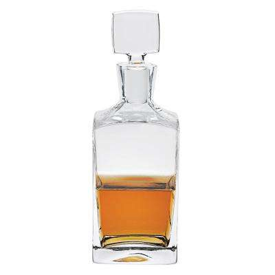 10.25 in. High 32 oz. Enzo Square European Mouth Blown Lead Free Crystal Decanter