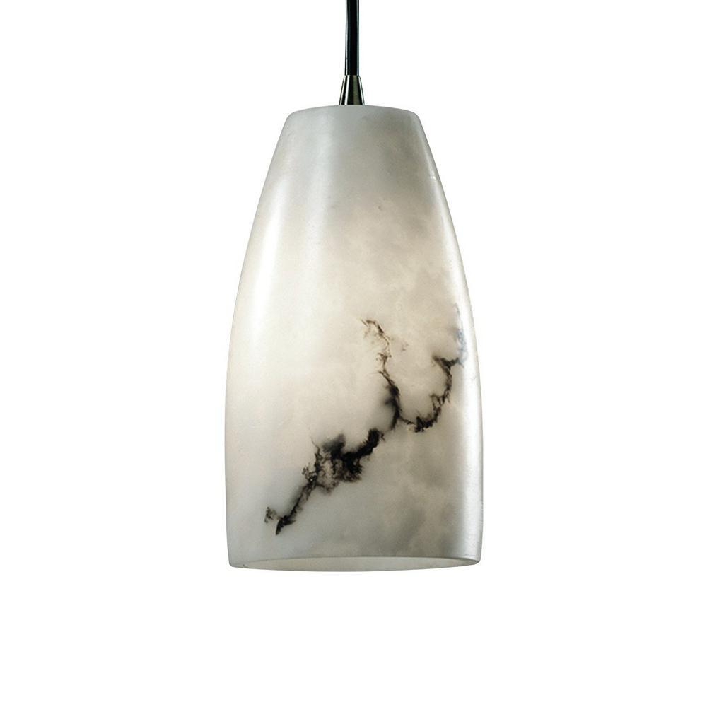 1-Light Nickel Indoor Pendant