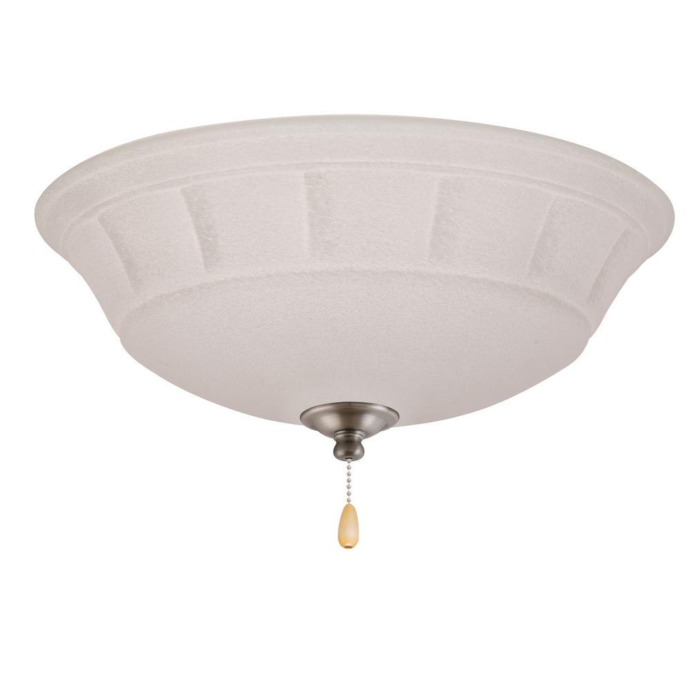 Grande White Mist LED Array Antique Pewter Ceiling Fan Light Kit