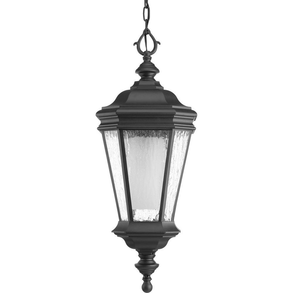 Crawford Collection 1-Light Black Hanging Lantern
