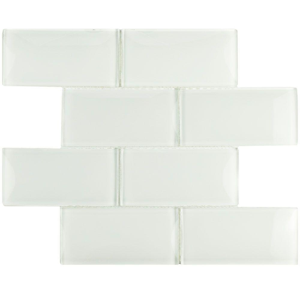 Igloo Convex Subway Ice White 11-5/8 in. x 11-7/8 in. x