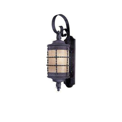 Mallorca 2-Light Spanish Iron Outdoor Wall Mount Sconce