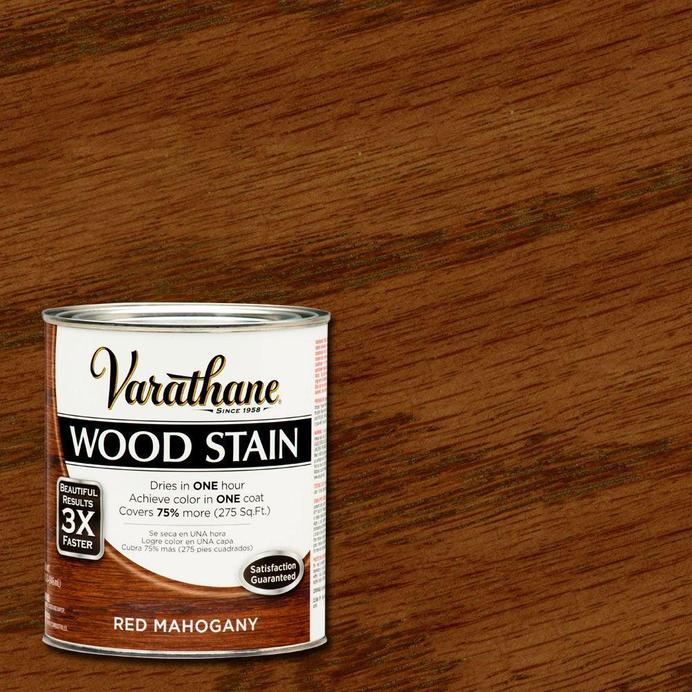 Varathane 1 Qt 3x Red Mahogany Premium Wood Stain Case