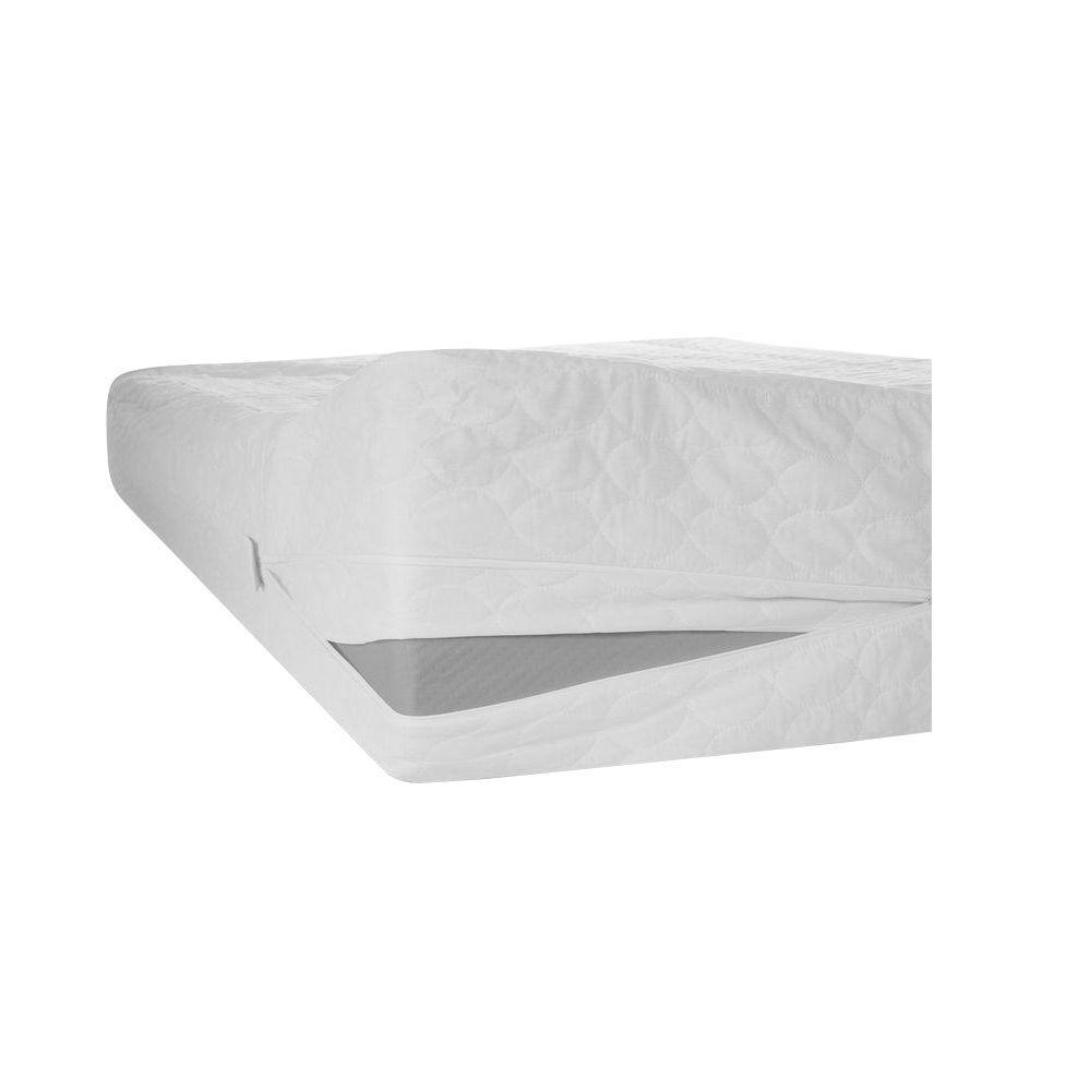 "Waterproof Bed Bug Dust Mites Mattress Protector Zipper Cover 12/"" Deep Full"