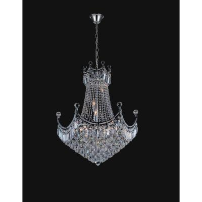 Amanda 15-light chrome chandelier