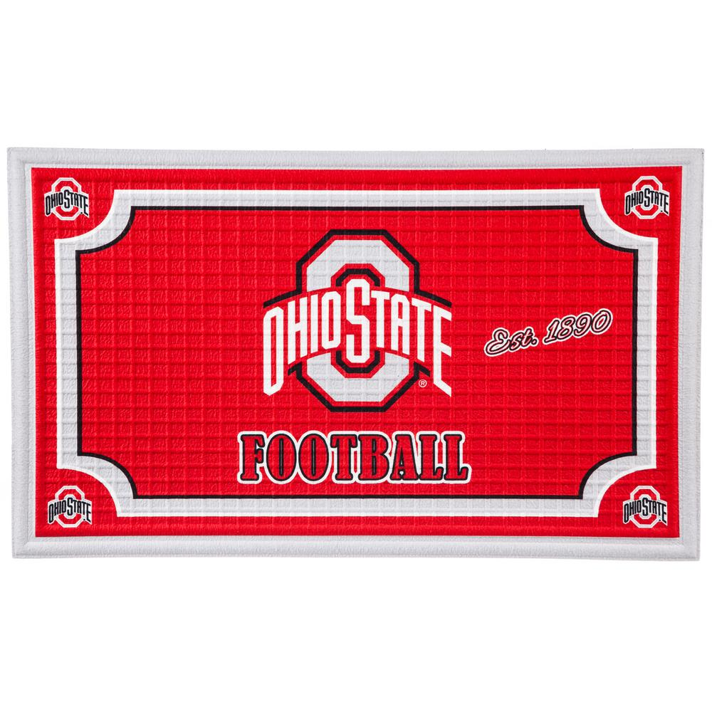 Ohio State University 18 in. x 30 in. Embossed Welcome Mat