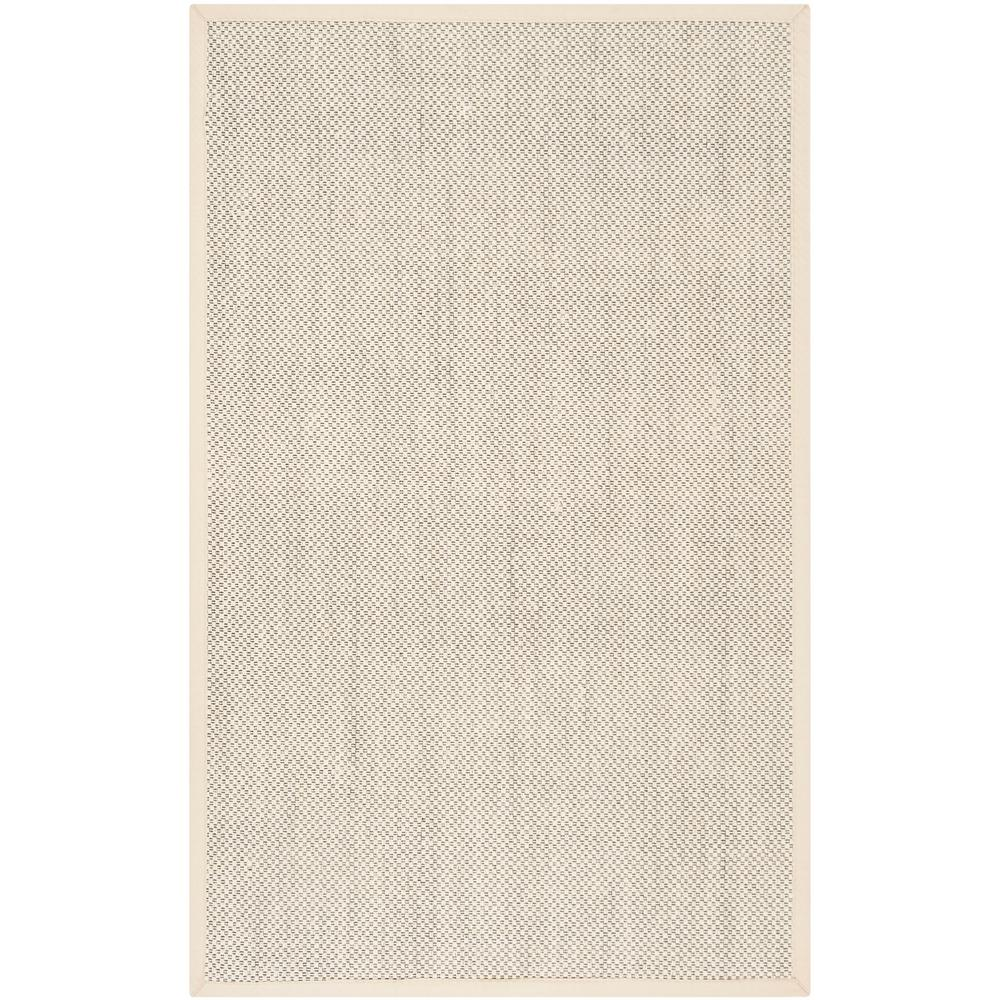 Natural Fiber Black Ivory 6 Ft X 9 Area Rug