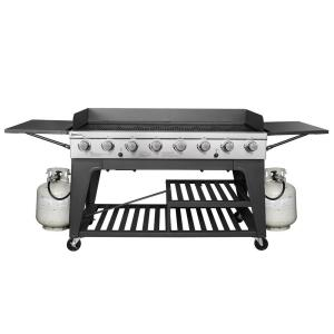 Royal Gourmet 8-Burner Event Propane Gas Grill with 2 Folding Side Tables by Royal Gourmet