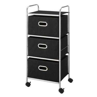 Metal Carts Mobile 3-Drawer Chest