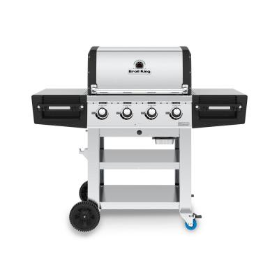 Regal S420 PRO Commercial 4-Burner Propane Gas Grill in Stainless Steel