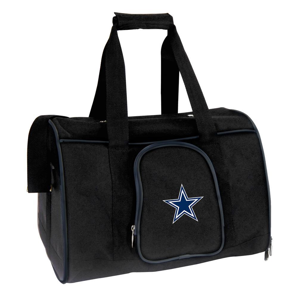 Denco NFL Dallas Cowboys Pet Carrier Premium 16 in. Bag in Navy, Team Color