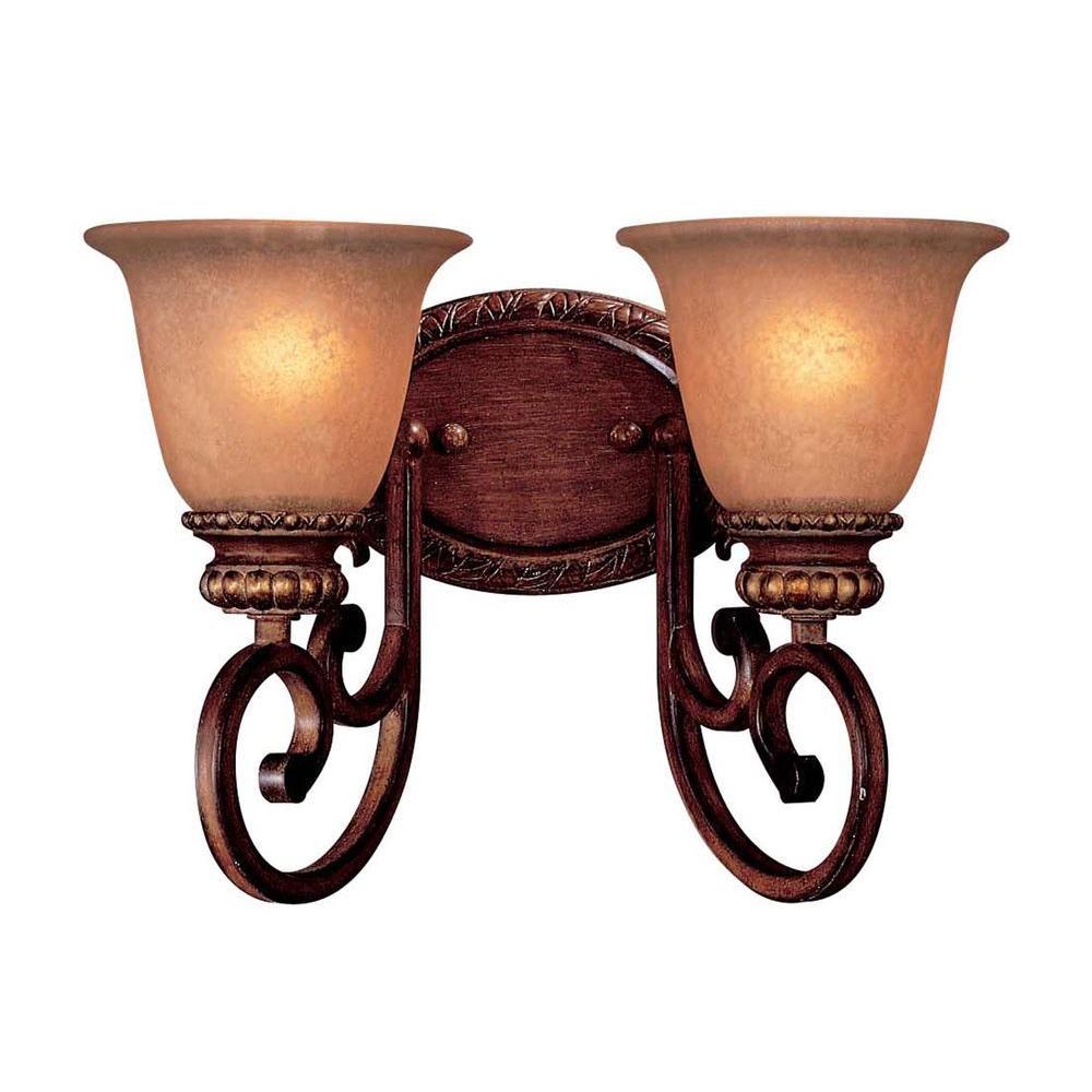 Minka Lavery Belcaro 2-Light Walnut Bath Light