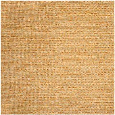 Bohemian Gold/Multi 6 ft. x 6 ft. Square Area Rug