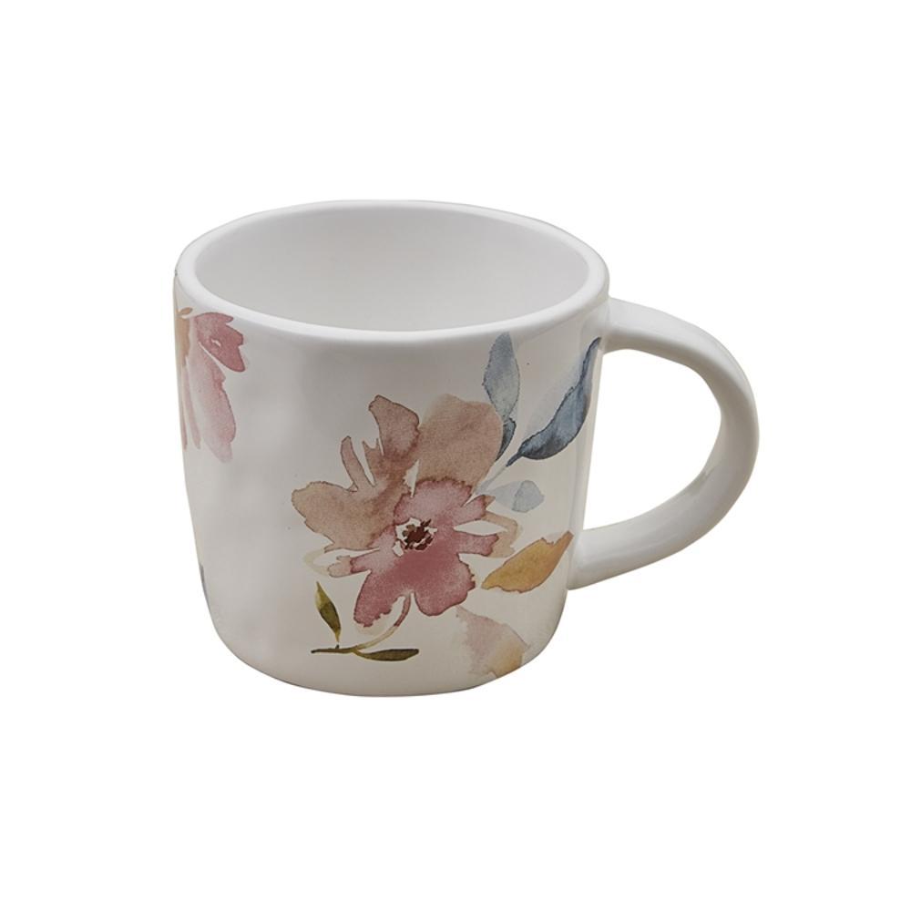 First Blush 16 oz. Multicolor Ceramic Coffee Mug (Set of 4)