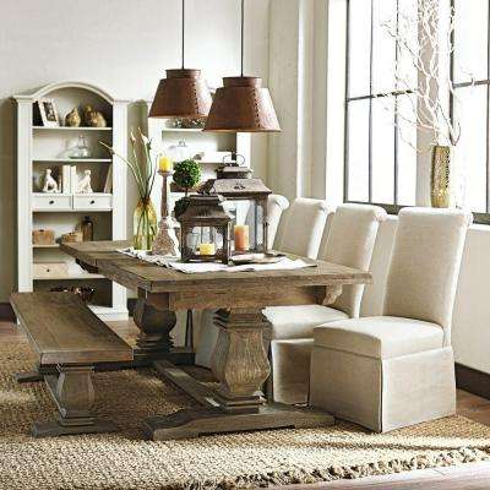 Aldridge Antique Walnut Wood Dining Bench - Antique Walnut - Dining Chairs - Kitchen & Dining Room Furniture