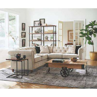 Holden Distressed Natural Mobile Coffee Table