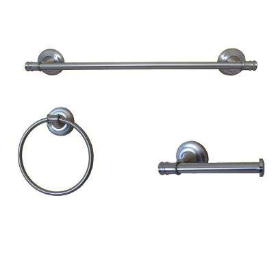 Edgerton Collection 3 Piece Bathroom Hardware Set in Satin Nickel
