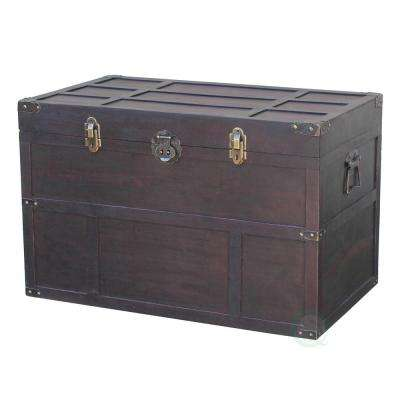 31 in. x 18 in. x 20 in. Wooden Old Cedar Style Large Chest