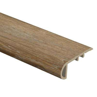 Woodacres Oak 1 in. Thick x 2-1/2 in. Wide x 94 in. Length Vinyl Stair Nose Molding