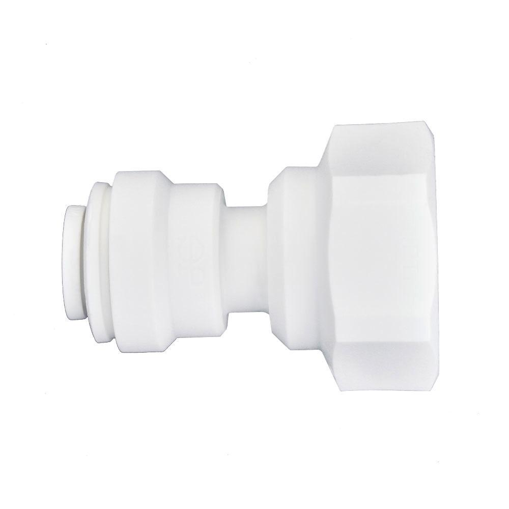 1/4 in. O.D. x 1/4 in. NPTF Push-to-Connect Female Connector (10-Pack)