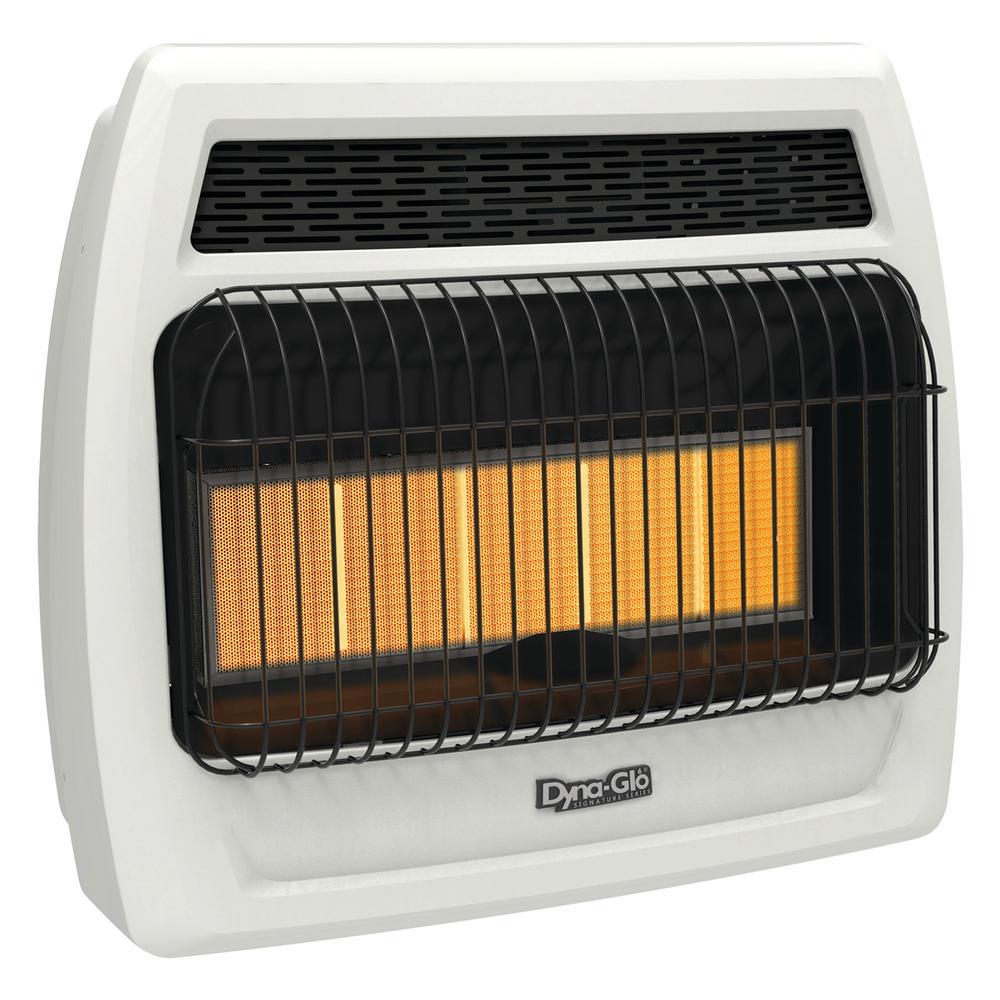 30,000 BTU Vent Free Infrared Liquid Propane Thermostatic Wall Heater