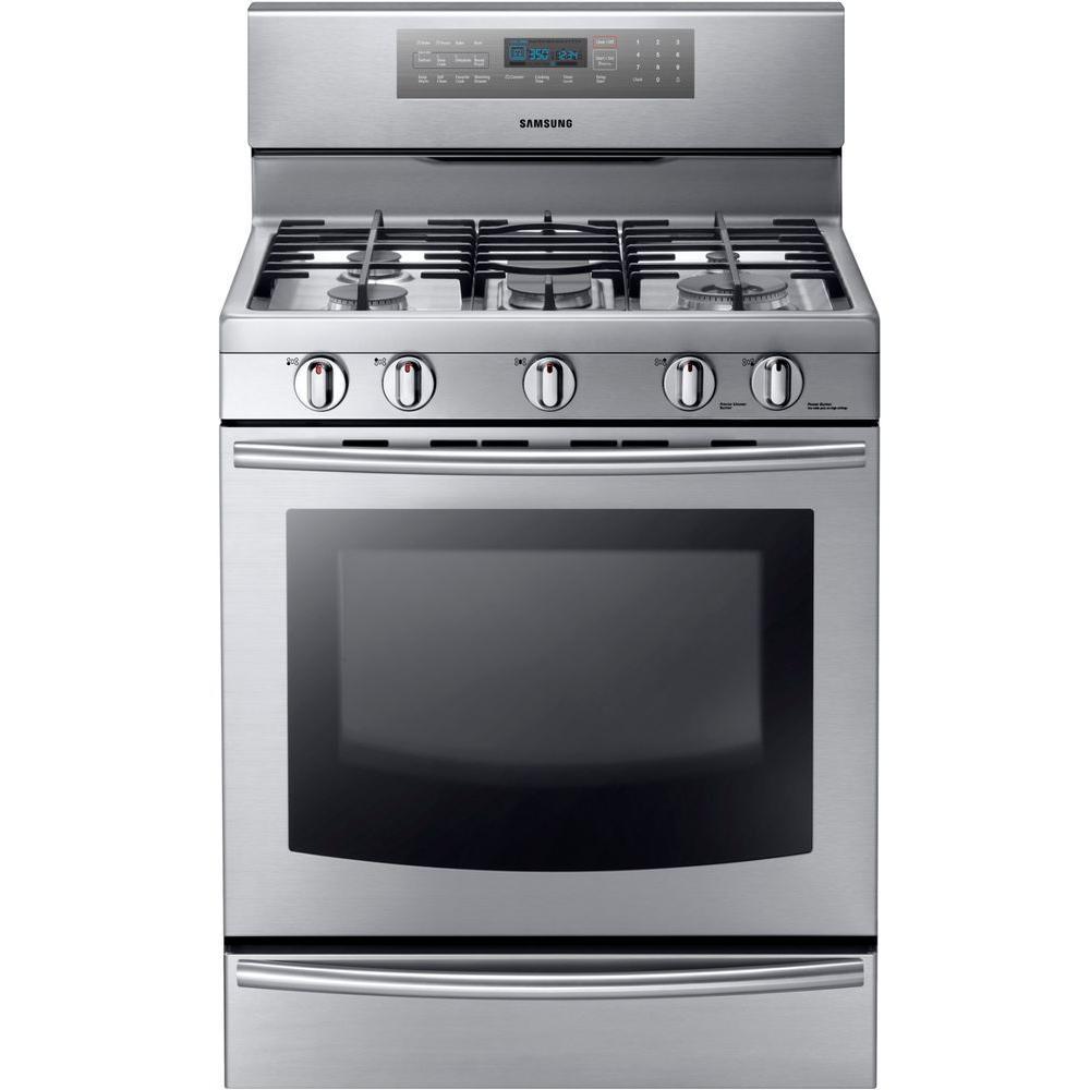 Charming Gas Range With Self Cleaning Convection