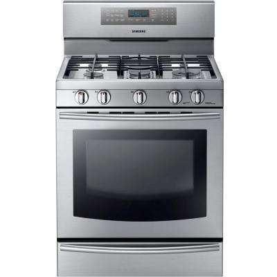30 in 58 cu ft gas range with convection oven