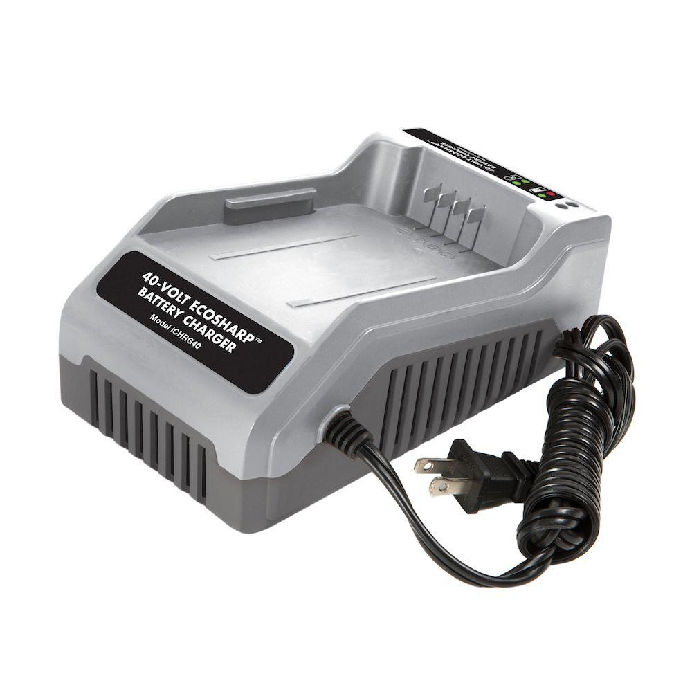 Snow Joe Ion 40 Volt Ecosharp Lithium Charger Ichrg40 The Home Battery Powered By Circuit Solar