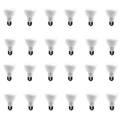 50-Watt Equivalent BR20 Dimmable CEC LED Light Bulb Soft White (24-Pack)