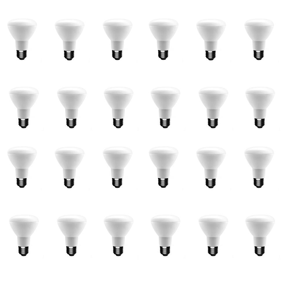 50-Watt Equivalent BR20 Dimmable CEC LED Light Bulb Soft White (24-Pack)