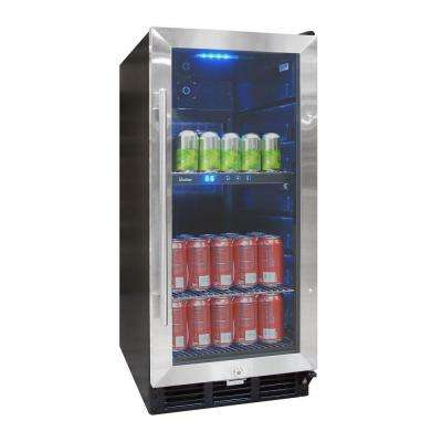 15 in. 100 (12 oz.) Can Beverage Cooler with Interior Display
